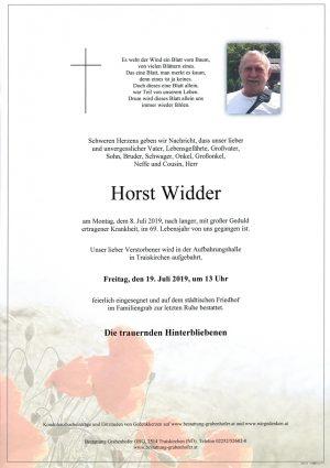 Portrait von WIDDER Horst