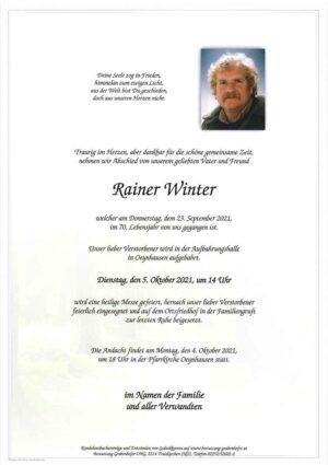 Portrait von WINTER Rainer