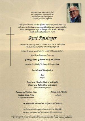 Portrait von RAISINGER René