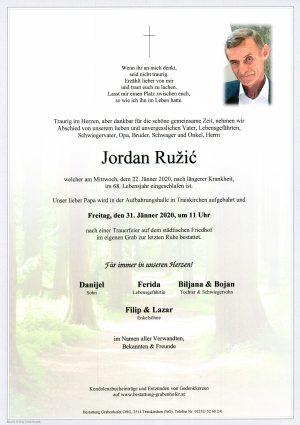 Portrait von RUŽIĆ Jordan