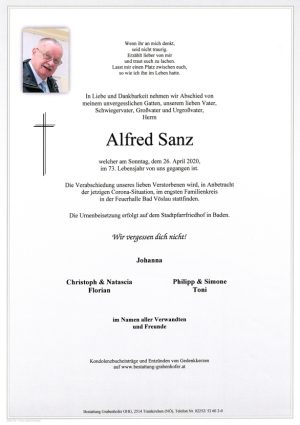 Portrait von SANZ Alfred