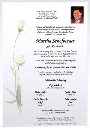 Portrait von SCHEFBERGER Martha