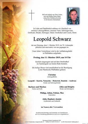 Portrait von SCHWARZ Leopold
