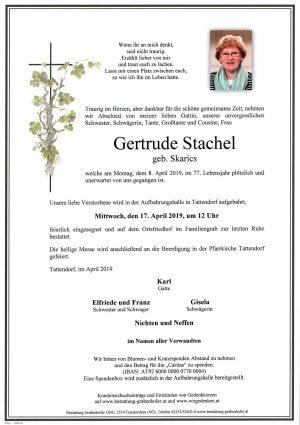 Portrait von STACHEL Gertrude