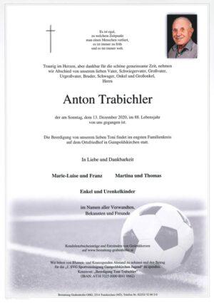 """Portrait von TRABICHLER Anton """"Toni"""""""