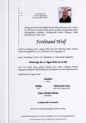 Portrait von WOLF Ferdinand
