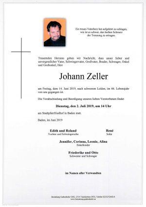 Portrait von ZELLER Johann